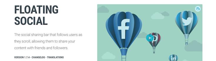 Floating Social WordPress Plugin